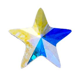 36 Pieces Genuine 5 mm Star Shape CRYSTAL AB   2816 Swarovski Crystals Flat  Back Rhinestones. 49cc730c8b22
