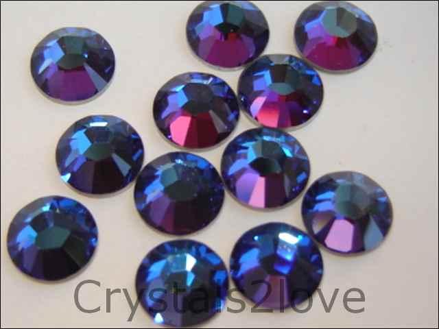 36 Pieces Genuine 30ss (6.4mm) MERIDIAN BLUE Swarovski Crystals Flat Back  2058 88 Rhinestones. e77036e62e